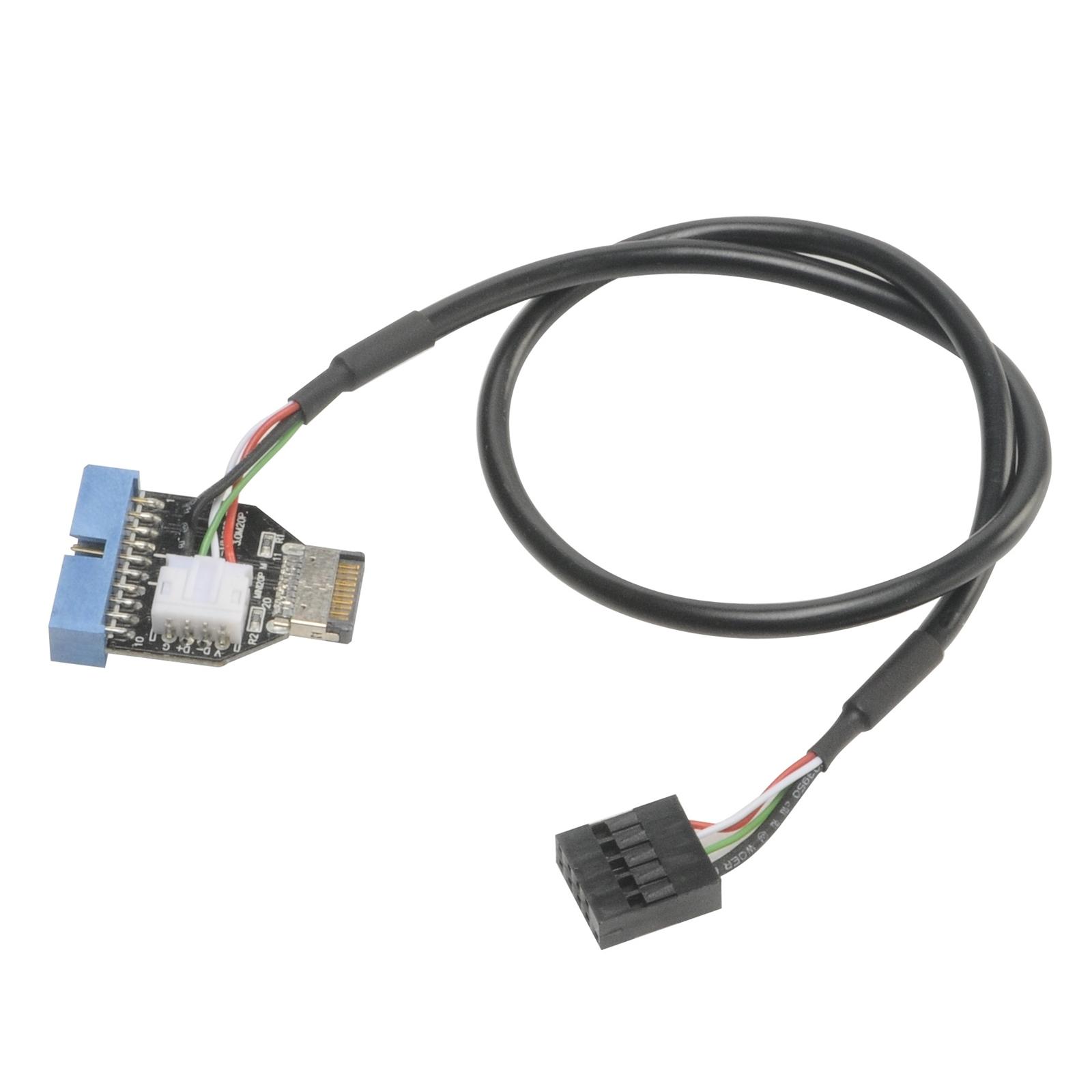 Akasa USB 3.1 Gen2 Internal Connector to USB 3.1 Gen1 19-pin Internal Adapter Cable