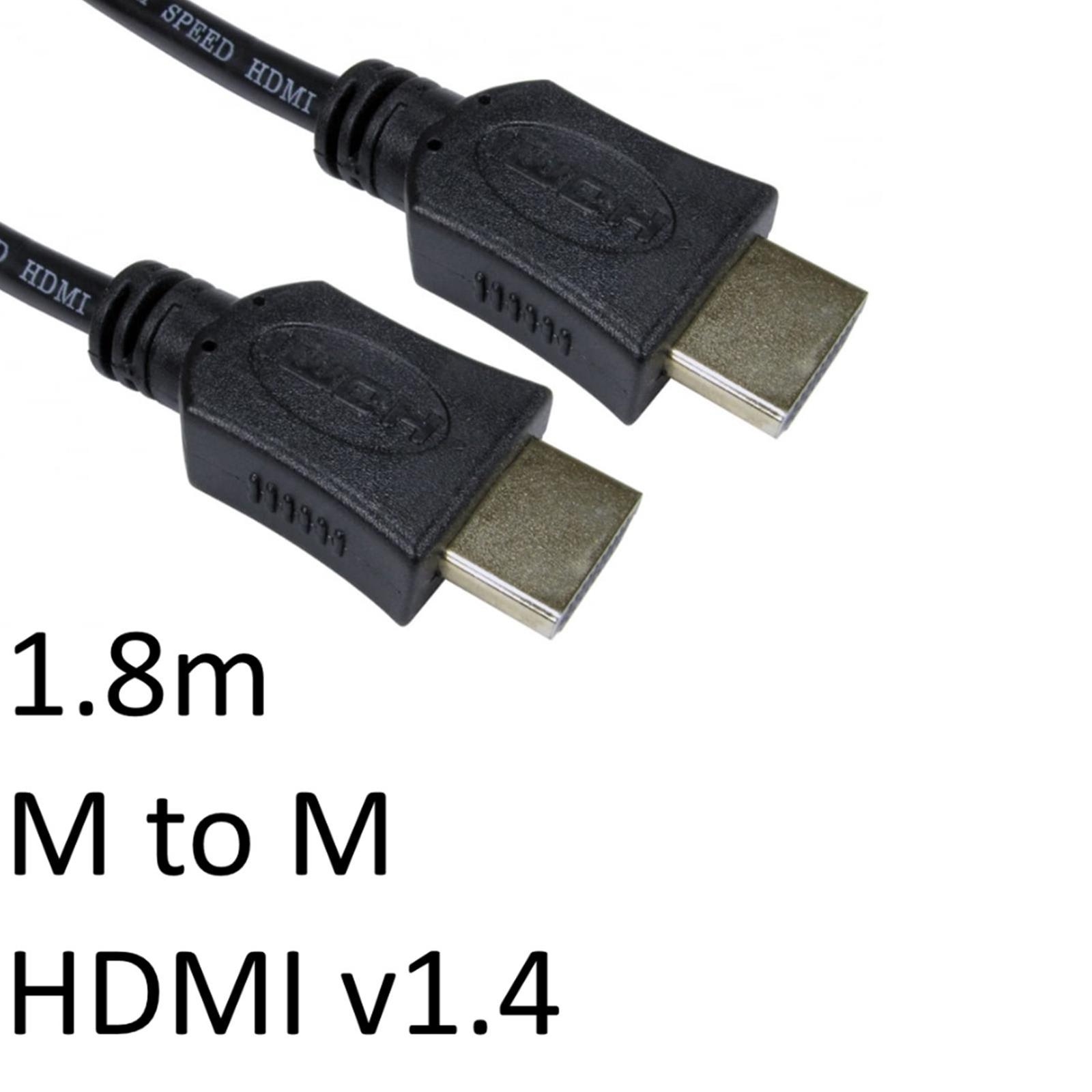 HDMI 1.4 (M) to HDMI 1.4 (M) 1.8m Black OEM Display Cable