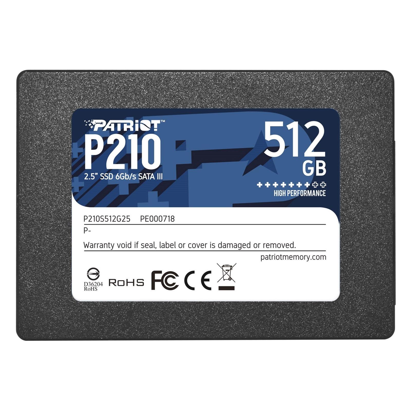 "Patriot P210 512GB 2.5"" SATA III SSD"