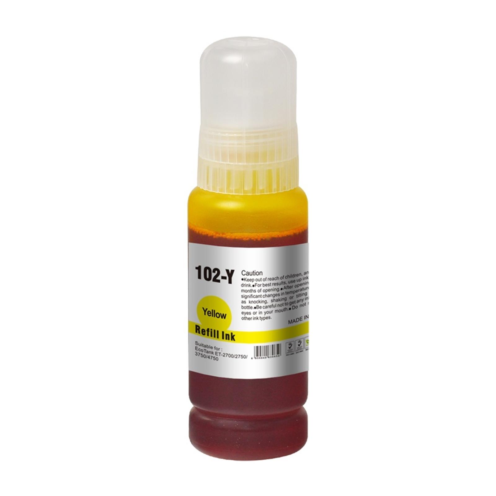 InkLab 102 Epson Compatible EcoTank Yellow ink bottle